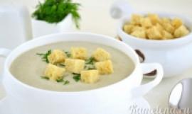 Суп-пюре из шампиньонов