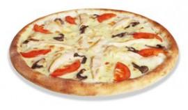 Пицца Кура и грибы, 40 см.