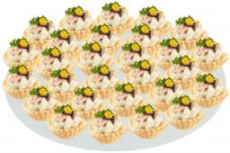 Тарталетка с крабовым салатом