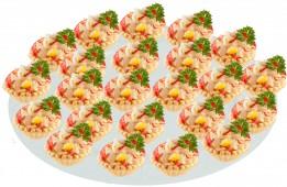 Тарталетка с салатом из кальмаров