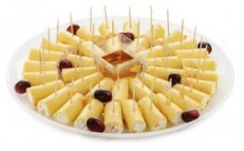 Сырные рулетики с твор-м муссом и медом