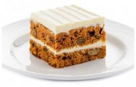 Тортик морковный  в шоколадной глазури