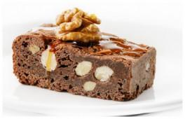 Пироженое шоколадно-ореховое