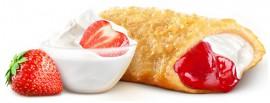 Пирожок клубника-ваниль
